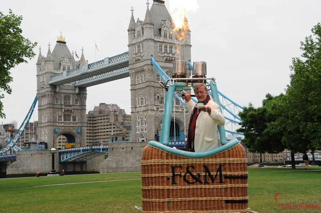 Fortnum & Mason at Tower Bridge with Stephen Fry